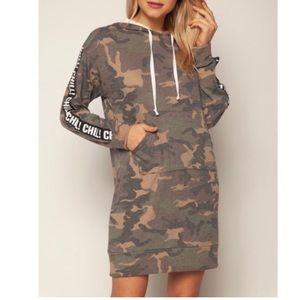 Dresses & Skirts - Camo Dress with Hood and Pockets